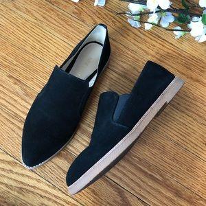 Nine West Quinko Black Suede Loafers